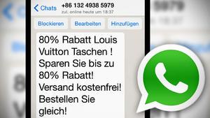 Achtung: Neue WhatsApp-Betrugsmasche