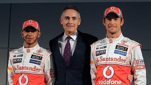 Lewis Hamilton, Martin Whitmarsh, Jenson Button