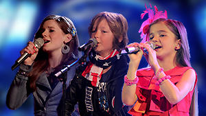 DSDS Kids Finalisten Alina, Marco und Vanilla