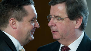 Ex-Ministerprsident Mappus und Willi Stchele