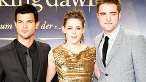 Taylor Lautner, Kristen Stewart und Robert Pattiinson