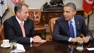 US-Haushaltsstreit, Boehner, Obama, Republikaner, Demokraten