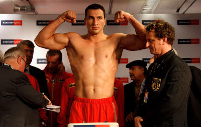 Wladimir vs. Mormeck Wiegen